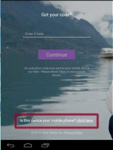 نصب وایبر بعنوان موبایل