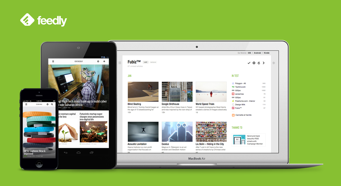 feedly news reader